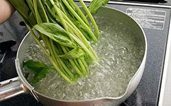 ほうれん草・小松菜の下ごしらえ・ゆで方|食材別の下ごしらえ・切り方 ...