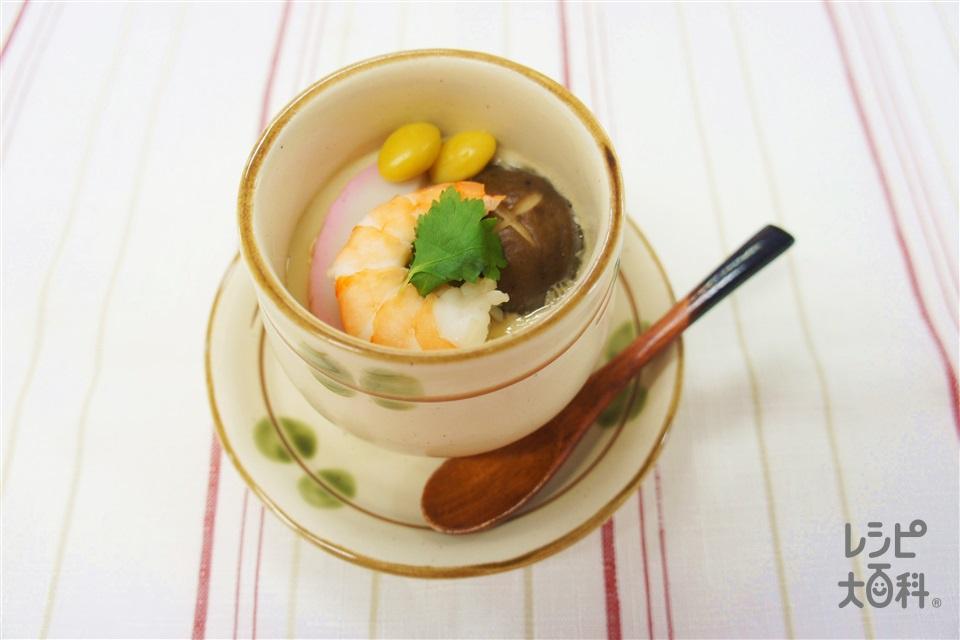 茶碗蒸し(えび+A酒を使ったレシピ)