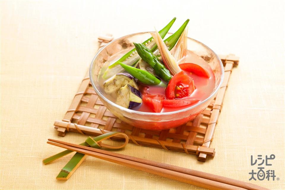 夏野菜の冷やし椀(トマト+なすを使ったレシピ)