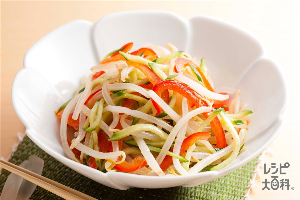 夏野菜の和風ナムル(もやし+きゅうりを使ったレシピ)
