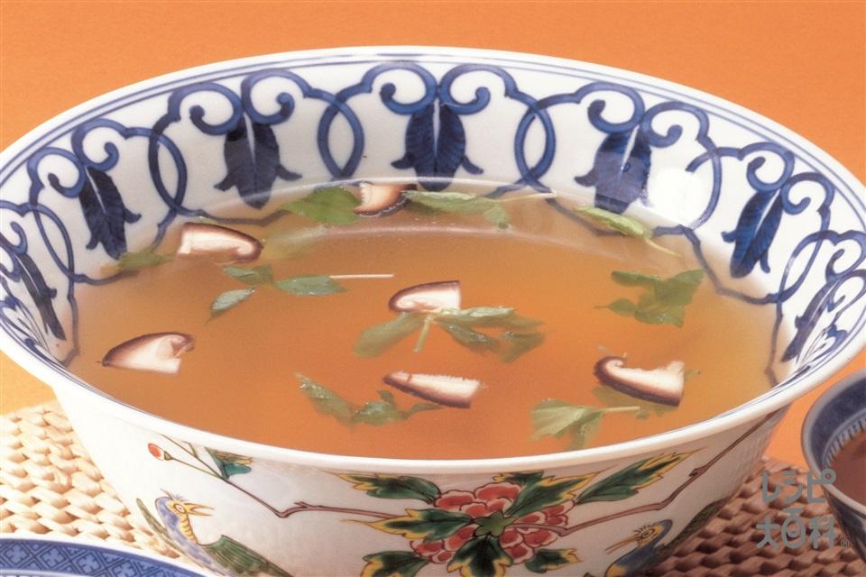 たけのこのスープ(ゆでたけのこ+しいたけを使ったレシピ)