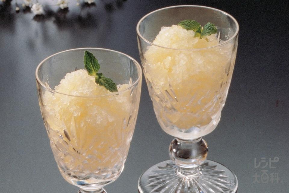 レモンシャーベット(A「パルスイート」+A湯を使ったレシピ)