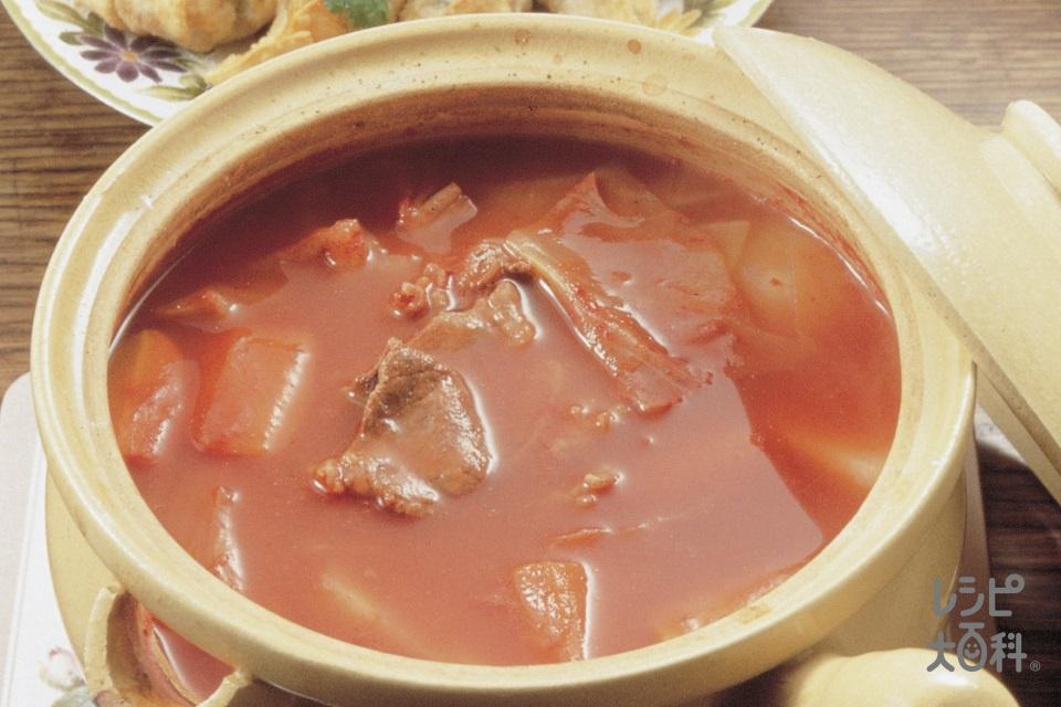 イージーボルシチ(牛バラ薄切り肉+玉ねぎを使ったレシピ)