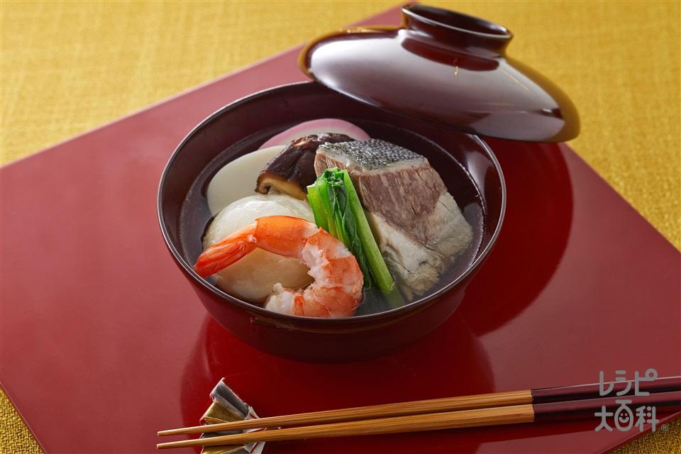 博多風雑煮(丸餅+ぶりを使ったレシピ)