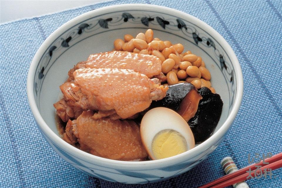手羽先と大豆の煮込み(鶏手羽肉+大豆の水煮を使ったレシピ)