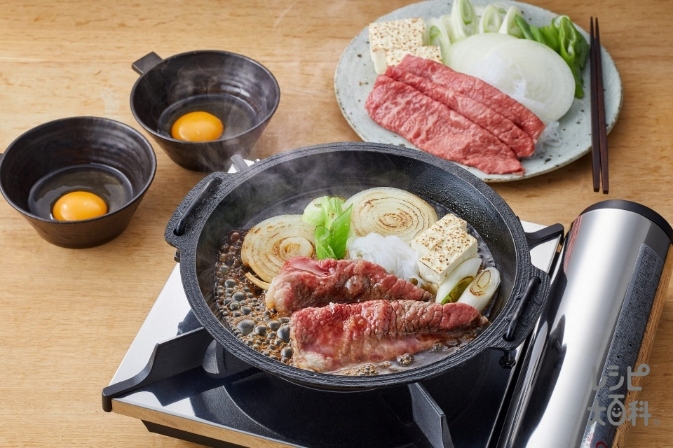 すき焼き 関西風(牛肉+糸こんにゃくを使ったレシピ)