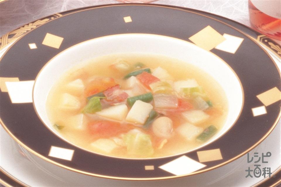田舎風スープ(キャベツ+玉ねぎを使ったレシピ)