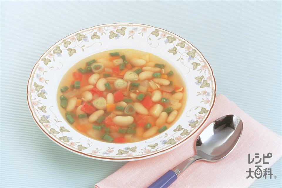 白いんげんのフランス風スープ(じゃがいも+トマトを使ったレシピ)