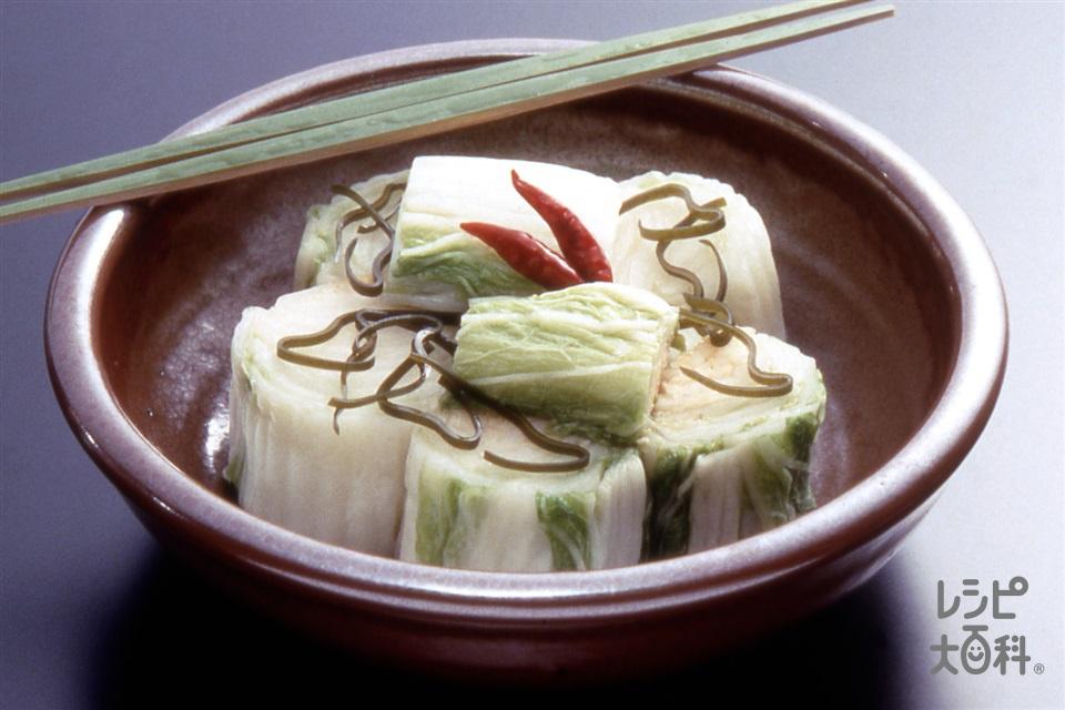 白菜漬け(白菜+昆布を使ったレシピ)