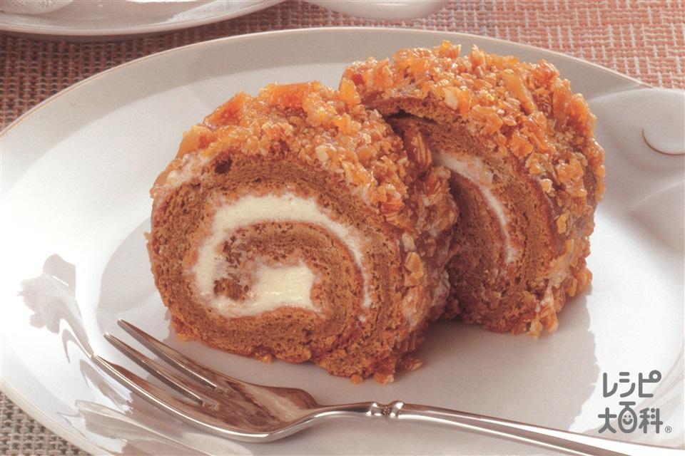 コーヒーロールケーキ(卵+砂糖を使ったレシピ)
