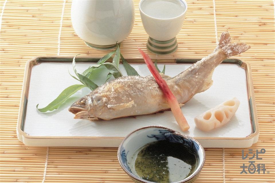 あゆの塩焼き(あゆ+はじかみしょうがを使ったレシピ)