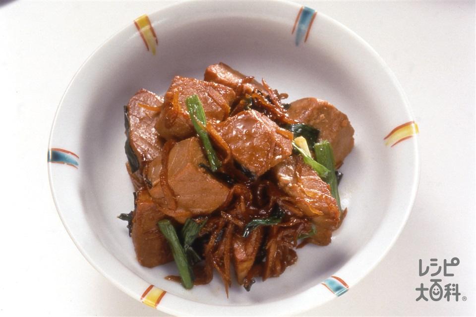 かつおの角煮(かつお+しょうがを使ったレシピ)