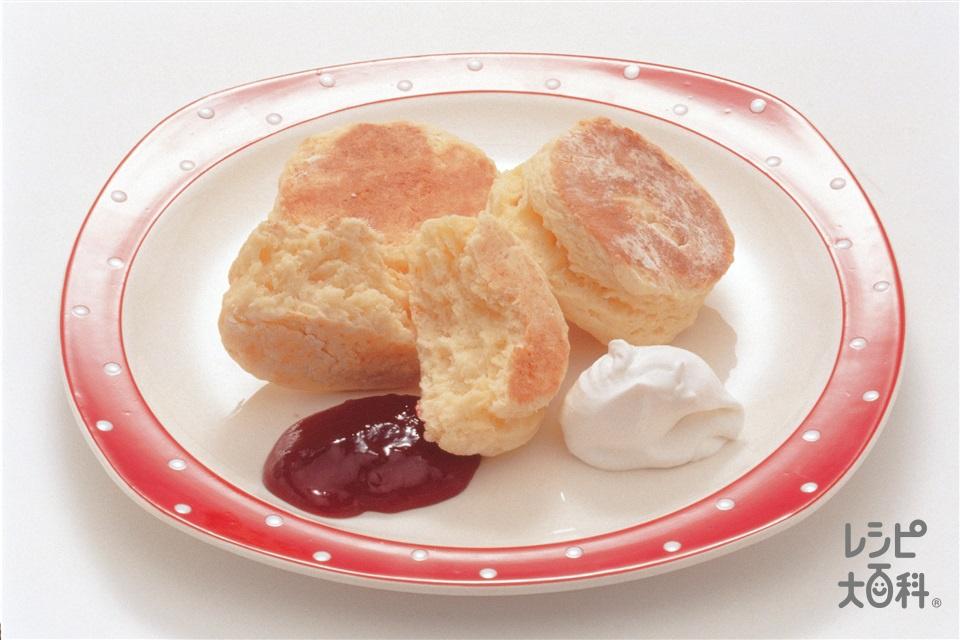 フライパンで作るスコーン(薄力粉+卵を使ったレシピ)