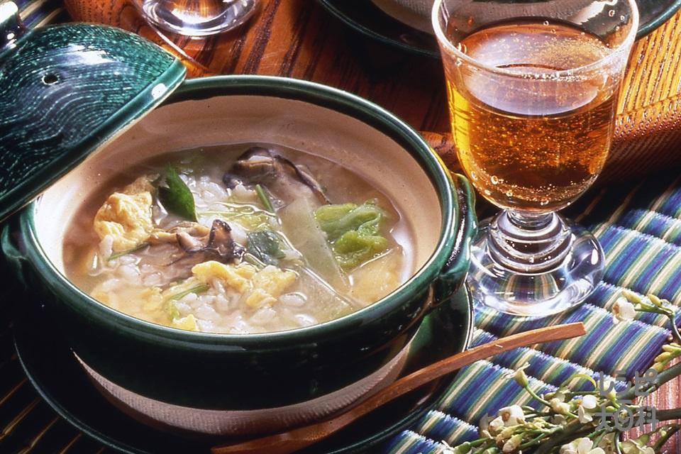 かき雑炊(かき(むき身)+「瀬戸のほんじお」を使ったレシピ)