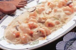 えびと白菜のクリーム煮