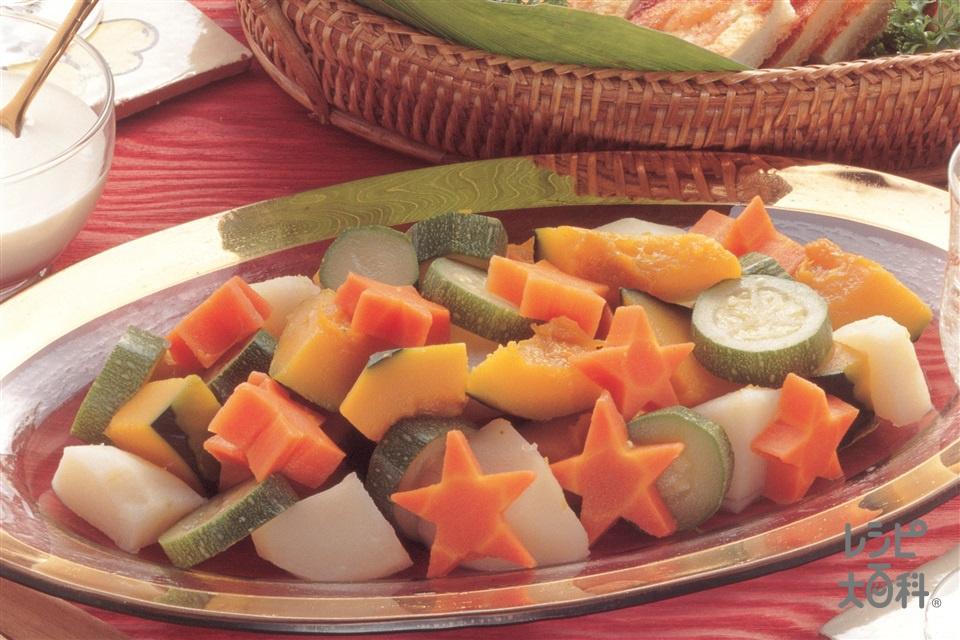 冷たいポトフサラダ(かぼちゃ+じゃがいもを使ったレシピ)