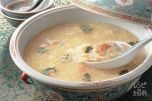 かに肉入りかき卵スープ
