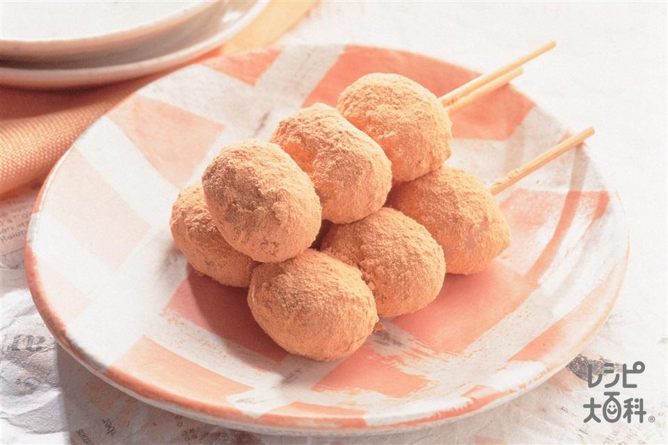 きなこだんご(A上新粉+Aもち粉を使ったレシピ)