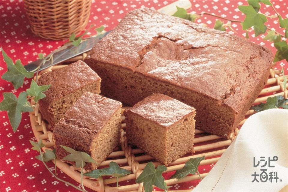 ジンジャーケーキ(小麦粉+黒砂糖を使ったレシピ)