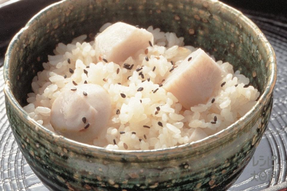 里いもの炊き込みご飯(米+もち米を使ったレシピ)