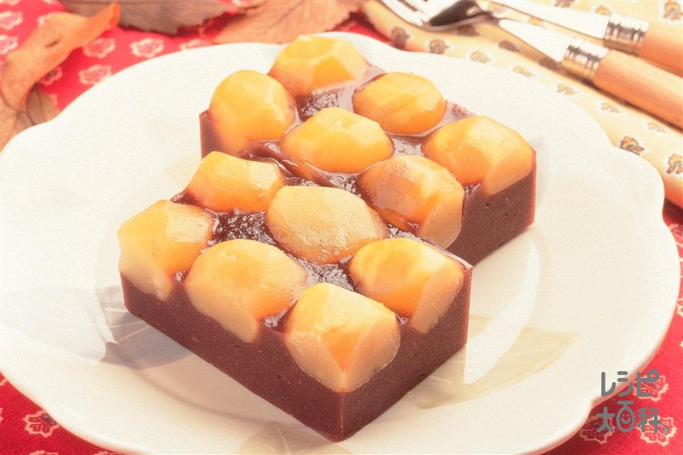 栗蒸しようかん(こしあん+小麦粉を使ったレシピ)