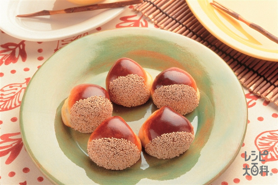 栗まんじゅう(白あん+栗の甘露煮を使ったレシピ)