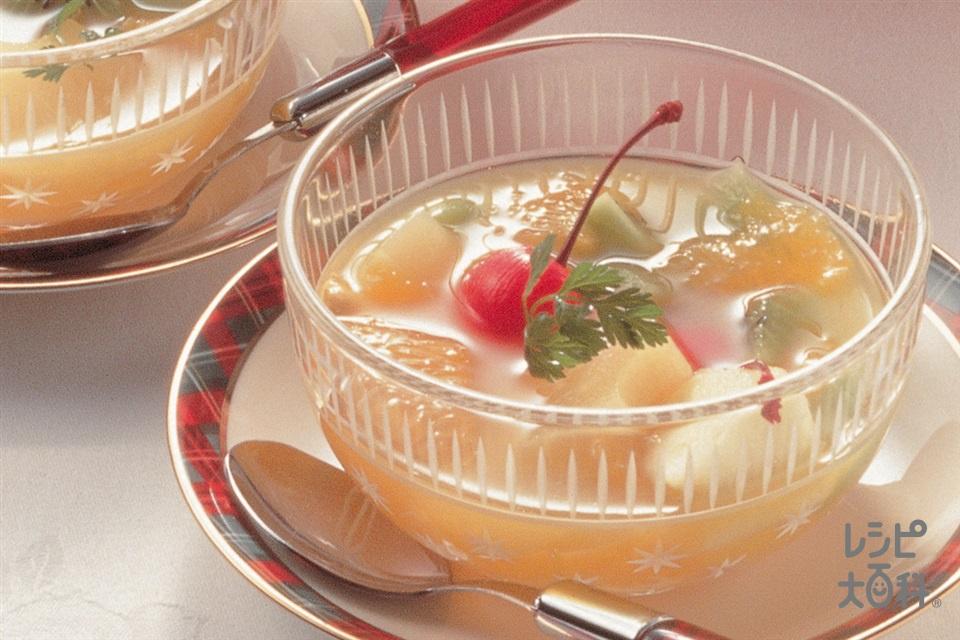 フルーツポンチ(パイナップル缶+オレンジジュースを使ったレシピ)