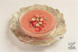 スペイン風冷たい野菜スープ