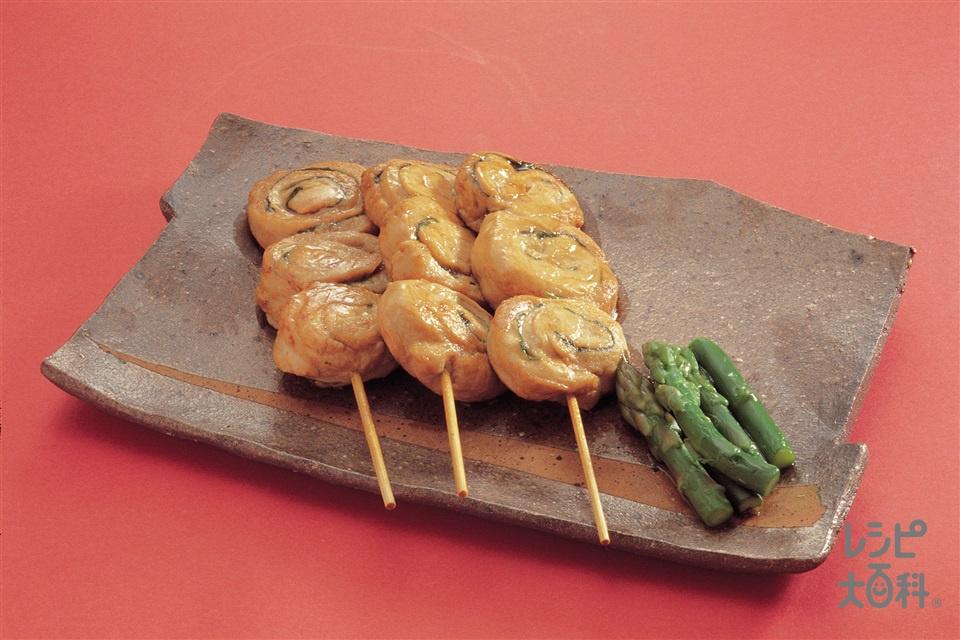 鶏ささ身の串焼き(鶏ささ身+グリーンアスパラガスを使ったレシピ)