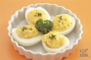 ゆで卵のツナマヨネーズ
