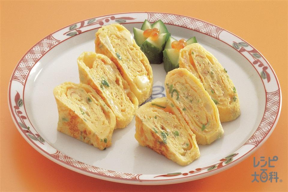 たらことチーズ入り卵焼き(卵+たらこを使ったレシピ)
