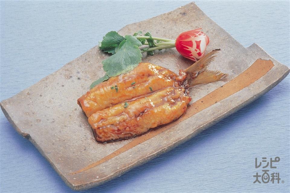 いわしのかば焼き(いわし+A「瀬戸のほんじお」を使ったレシピ)