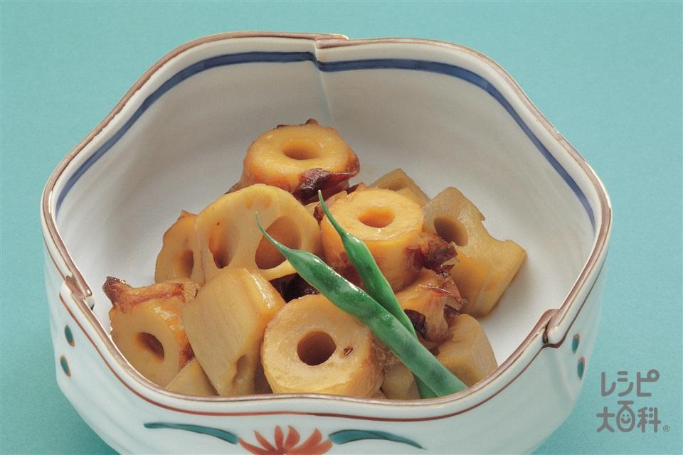 れんこんとちくわの炒め煮(れんこん+焼きちくわを使ったレシピ)