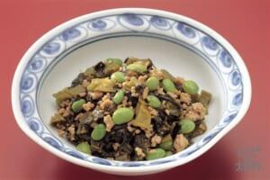 枝豆と高菜の炒めもの