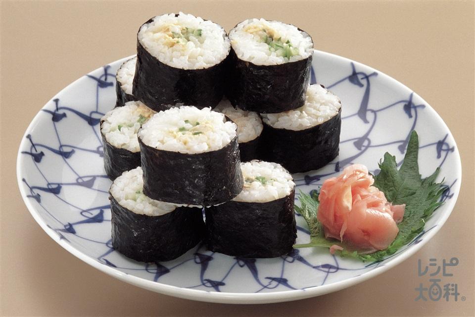 ツナマヨネーズののり巻き(米+きゅうりを使ったレシピ)