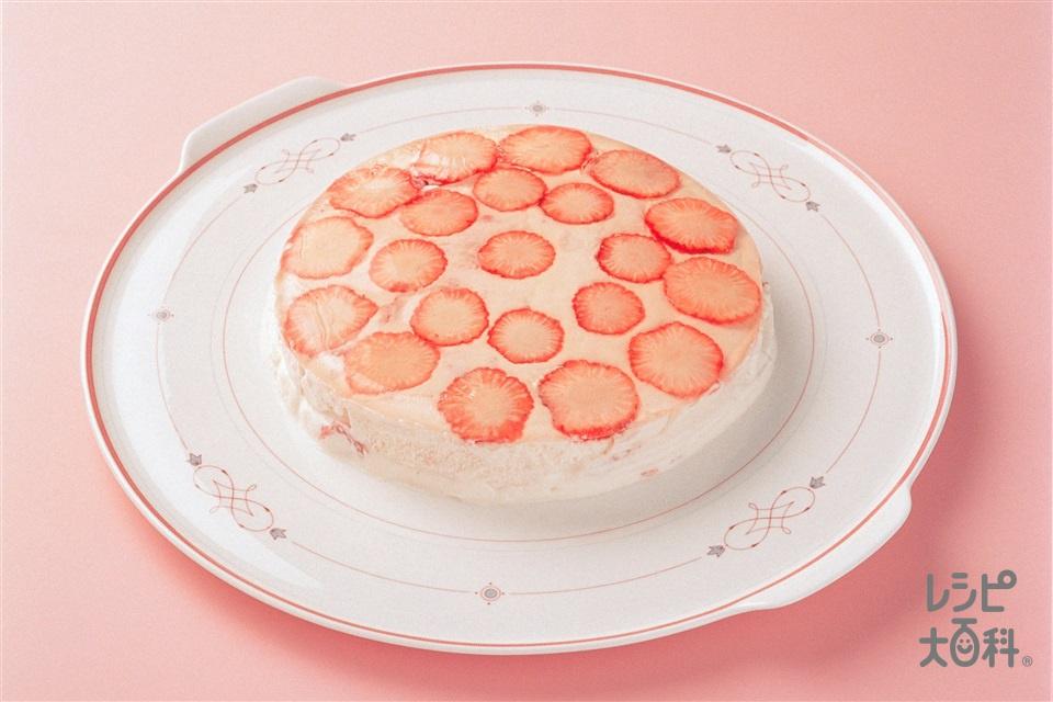 いちごのババロア風(いちご+生クリームを使ったレシピ)