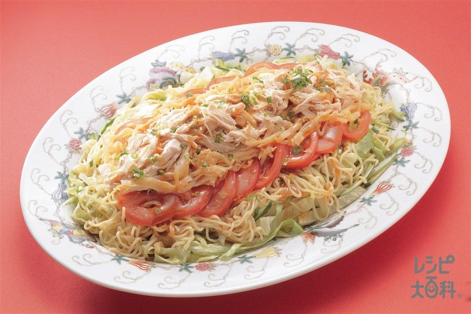 ピリ辛ラーメンサラダ(鶏むね肉+トマトを使ったレシピ)