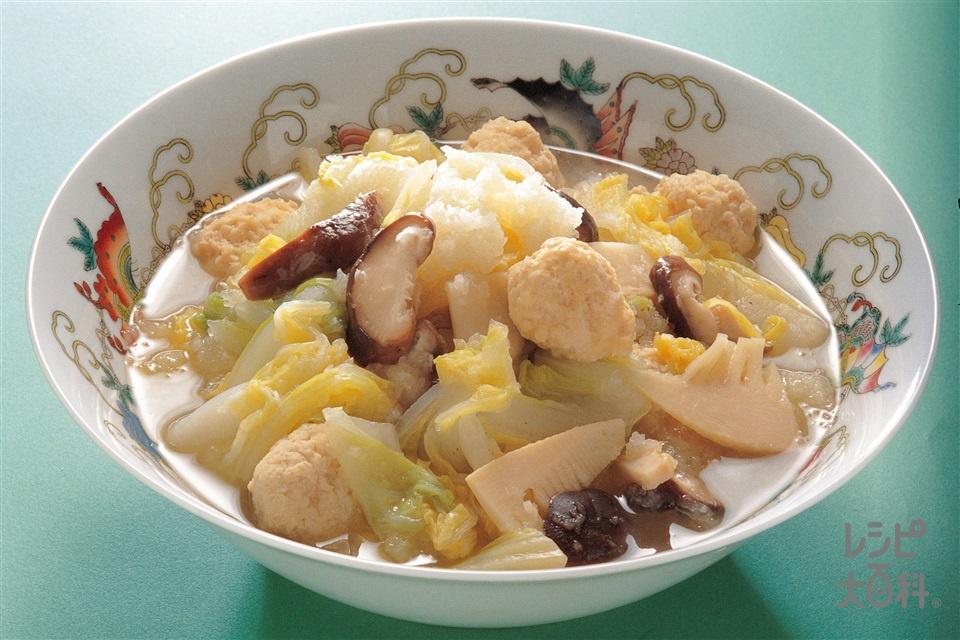 白菜と大根のみぞれ煮(白菜+大根を使ったレシピ)
