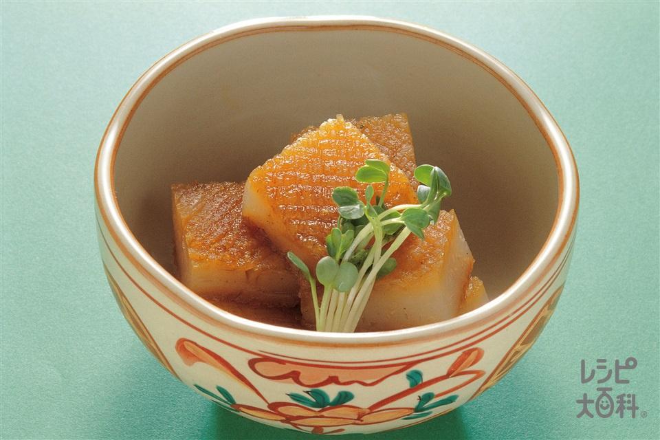 蛇腹こんにゃくカレー風味(白こんにゃく+砂糖を使ったレシピ)