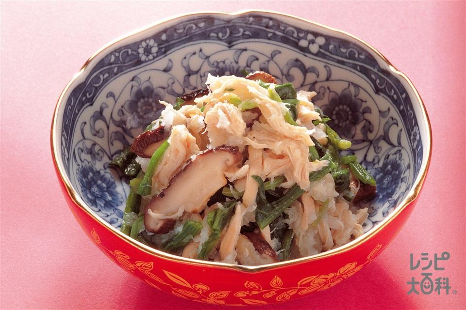 鶏肉とほうれん草のおろしあえ(ほうれん草+大根おろしを使ったレシピ)