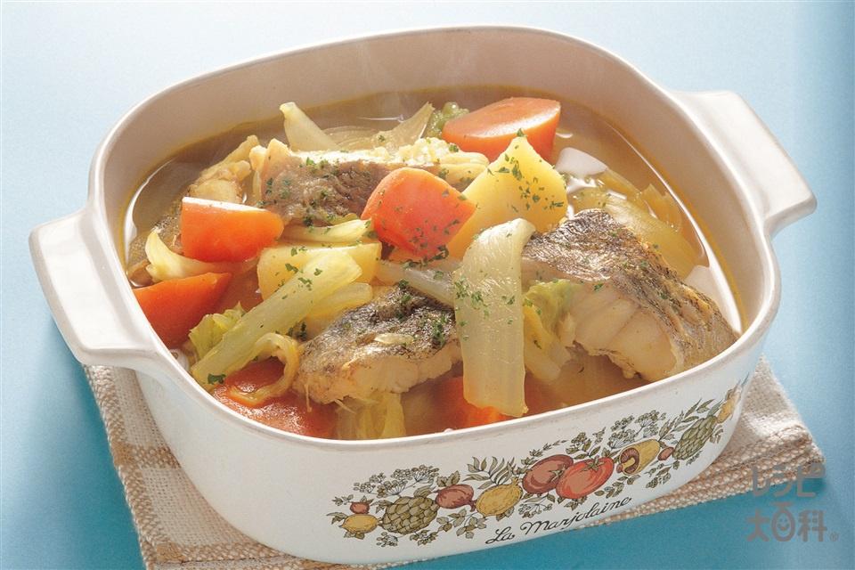 たらのカレー煮(たら+白菜を使ったレシピ)