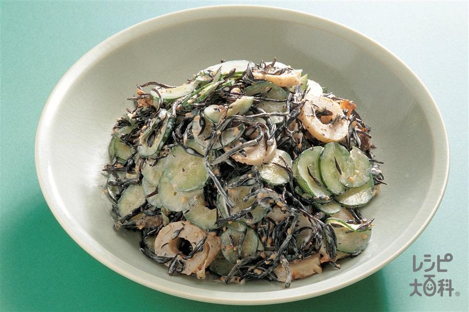 ひじきのサラダ(焼きちくわ+きゅうりを使ったレシピ)