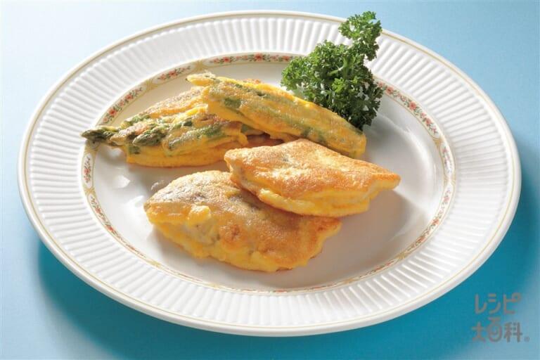 白身魚とグリーンアスパラのチーズ焼き