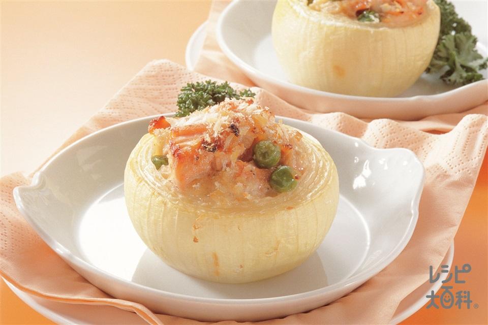 玉ねぎのマヨネーズ焼き(玉ねぎ+生ざけを使ったレシピ)