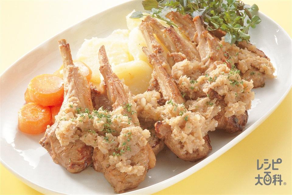 ラム肉のシャリアピンステーキ(ラムチョップ+A「味の素」を使ったレシピ)