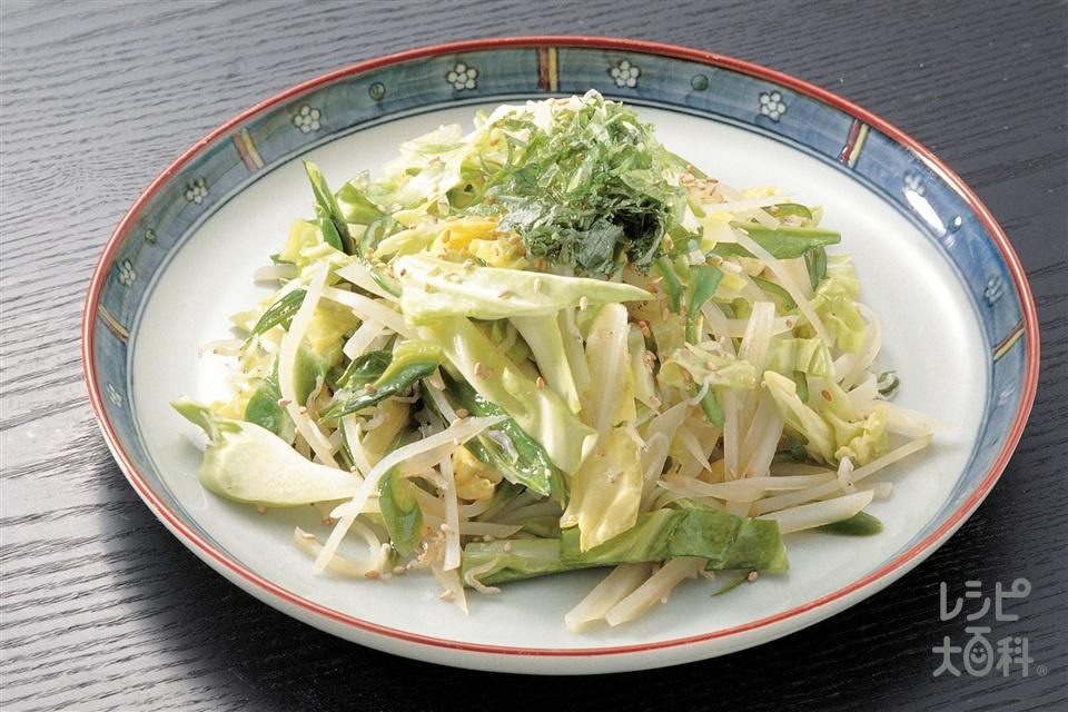 キャベツのいりこ風味炒め(キャベツ+じゃがいもを使ったレシピ)