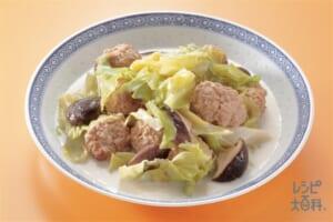 キャベツとひき肉だんごの中国風煮もの(キャベツ+豚ひき肉を使ったレシピ)