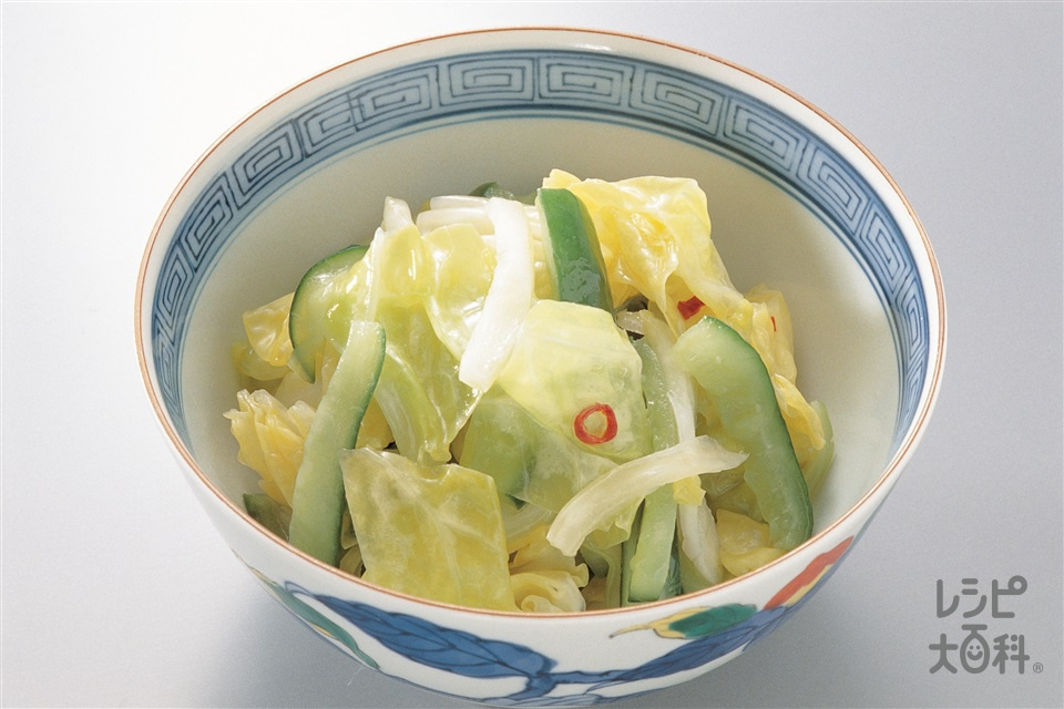 野菜の辛味づけ(きゅうり+キャベツを使ったレシピ)