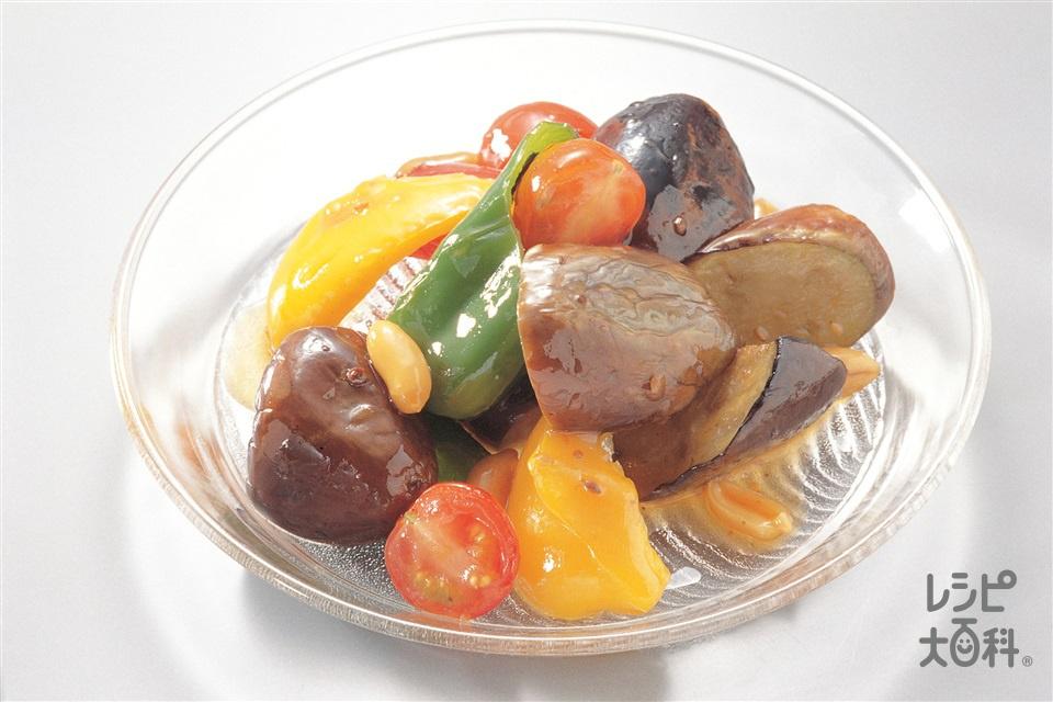 夏野菜の中国風マリネ(なす+ミニトマトを使ったレシピ)