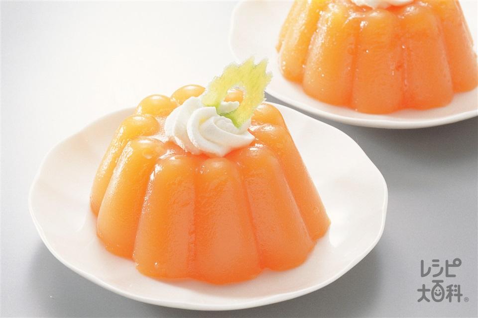 キャロットゼリー(にんじん+生クリームを使ったレシピ)
